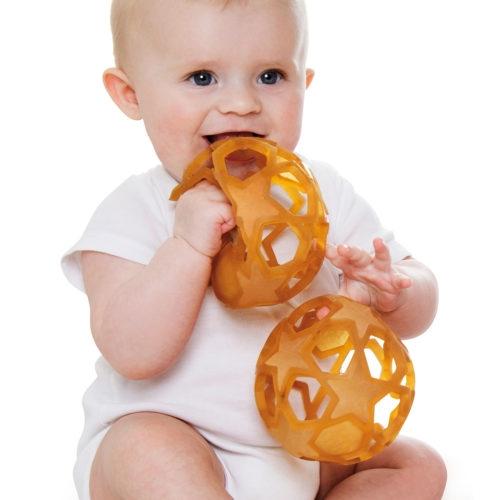 HEVEA STAR BALL Lavinamasis žaislas- kamuolys iš natūralaus kaučiuko