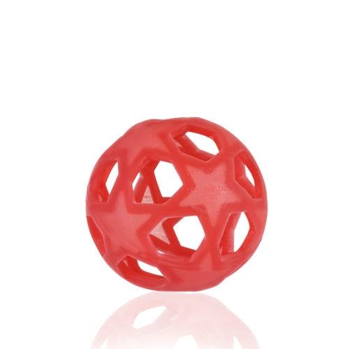 HEVEA STAR BALL (Raspberry Red) Lavinamasis žaislas- kamuolys iš natūralaus kaučiuko