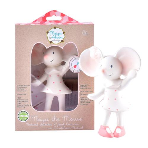 Tikiri Toys Meiya the Mouse all rubber squeaker