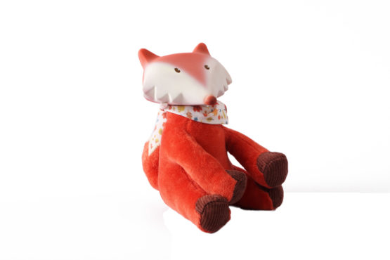 Tikiri Toys Fox toy with vest with rubber head