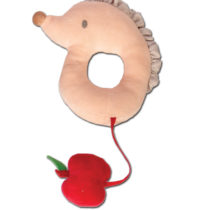 Tikiri Toys Hedgehog with apple rattle