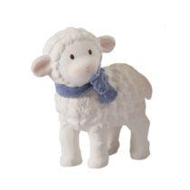 Tikiri Toys Lucas Lamb Ruber Toy-blue