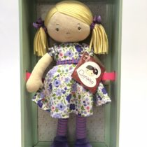 Tikiri Toys Peggy – Blond hair/lilac & pink dress WITH LRG SHOE BOX
