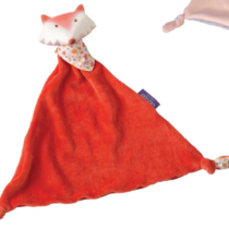 Tikiri Toys Fox comforter with rubber head