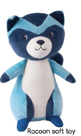 Tikiri Toys Racoon soft toy