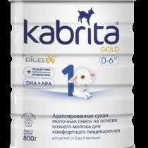 """""""Kabrita® 1 GOLD NEW"""" Adaptuotas ožkos pieno mišinys komfortiškam virškinimui 800 g"""