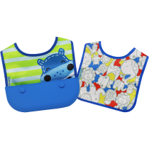 Marcus & Marcus Travel bib (Set of 2 Bibs) – Lucas